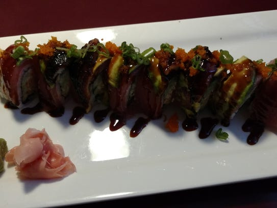 Dragon Roll at Taki Japanese Steakhouse in Urbandale.