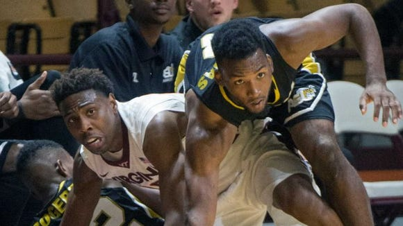 Torloft Thomas and the Alabama State Hornets pulled out a 85-82 win at ACC foe Virginia Tech to open the 2015-16 season.