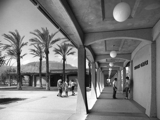 Early photo of College of the Desert campus.