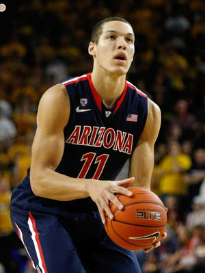 Arizona Wildcats forward Aaron Gordon (11) during the second half against the Arizona State Sun Devils at Wells Fargo Arena. The Sun Devils defeated the Wildcats 69-66 in double overtime.
