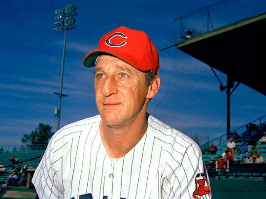 Warren Spahn of the Cleveland Indians in 1972.