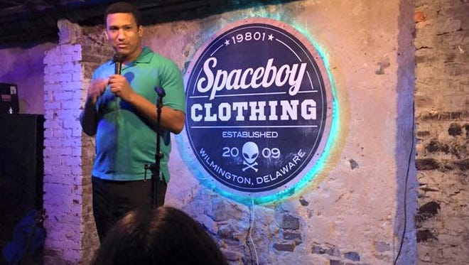 New Castle-based comedian Brandon Jackson will host Friday night's comedy show at Spaceboy Clothing in Wilmington.
