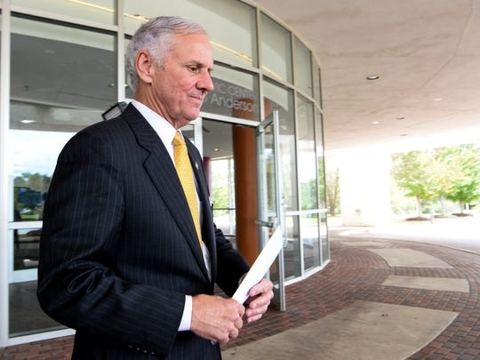 State Gov. Henry McMaster at an announcement of Arthrex