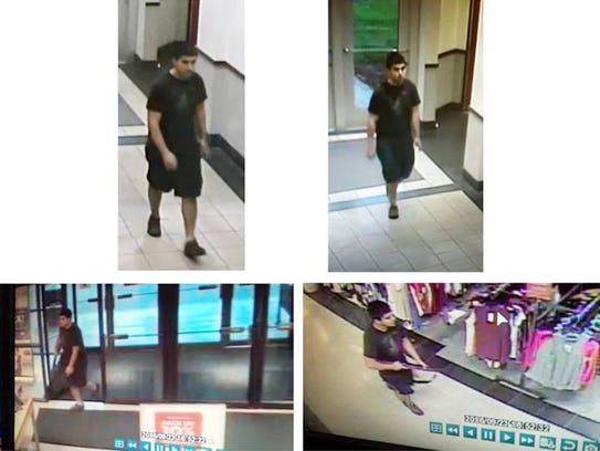 Screen grabs from surveillance video of a suspect involved