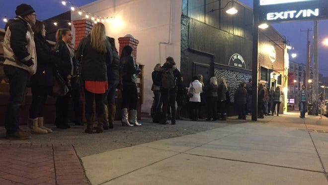 Miranda Lambert fans line up outside Exit/In for a free concert Tuesday in Nashville that was announced via Twitter.