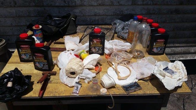 A search of Debra Miller's residence revealed evidence that Methamphetamine was being manufactured on the premises.