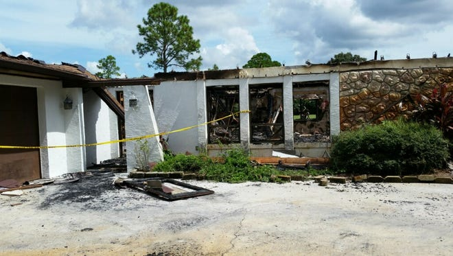 Fire destroyed a house in Titusville early Thursday.