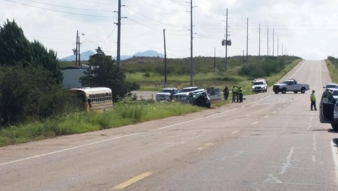 The scene of a fatal accident near Bisbee