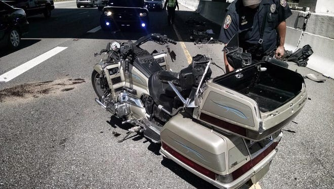 At least one person was injured in a motorcycle crash in Williamson County on Monday.