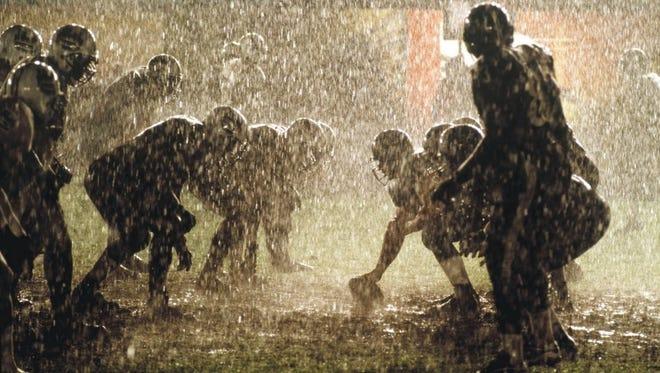 Rain football.