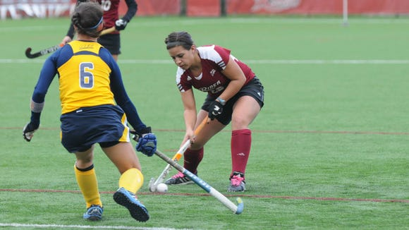 Former Kingsway standout Rachel Ippolite has helped Rider to a 7-4 start.