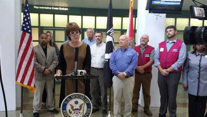 "Representative Gwen Graham announcing the launch of the ""I Hire Veterans"" program"