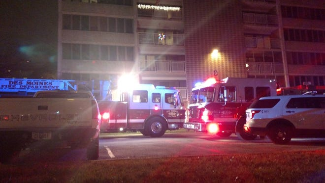 Des Moines firefighters respond to an apartment fire Dec. 16.