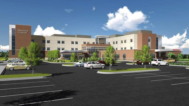 A revised land development plan filed with West Manchester Township for the new Memorial Hospital increases the number of beds to 130, up from the 104 beds in the earlier plan.