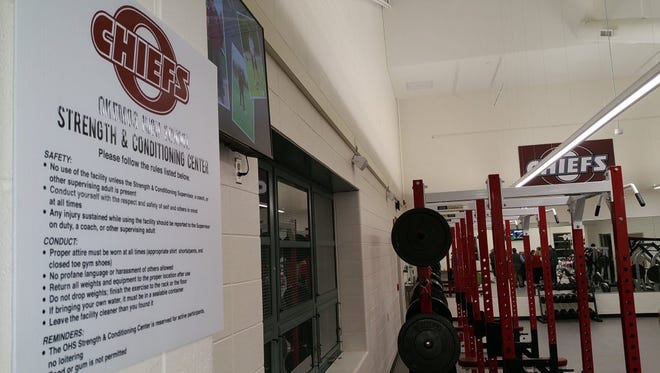 Okemos High School unveiled its new athletic addition Wednesday night.