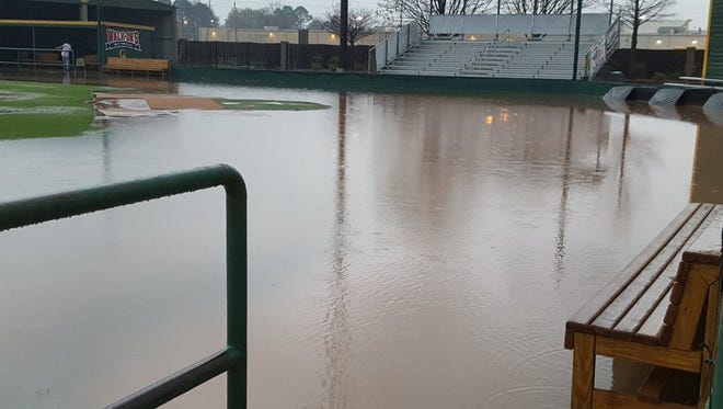 The baseball field at Captain Shreve.