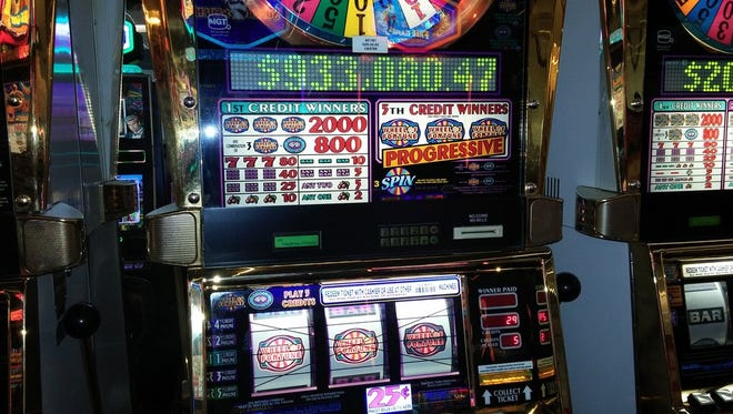 This slot machine at the Las Vegas airport paid out more than $933,000 to one lucky flier in March 2016.
