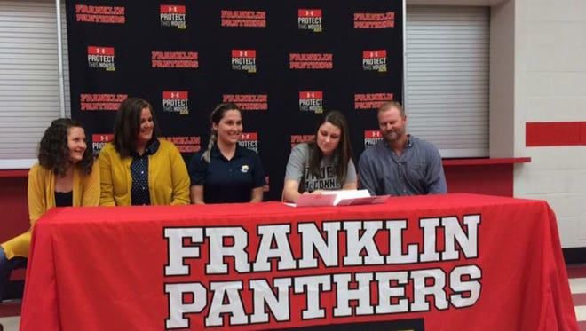 Franklin senior Bailey Gentry has signed to play college lacrosse for Truett McConnell (Ga.).
