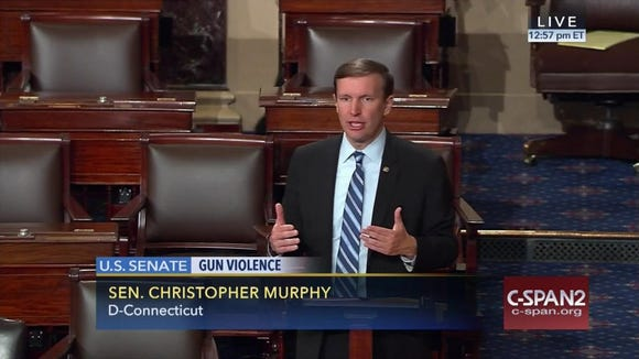 This frame grab provided by C-SPAN shows Sen. Chris