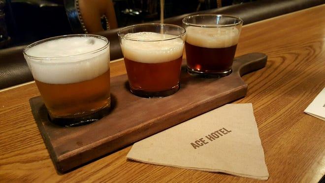 Beer flight from the Amigo Room.