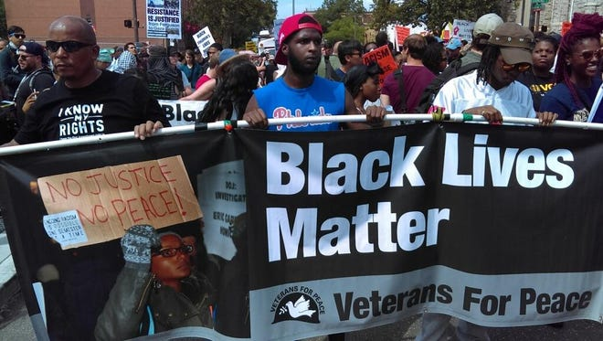 The Black Lives Matter group wanted to raise concerns about police brutality.