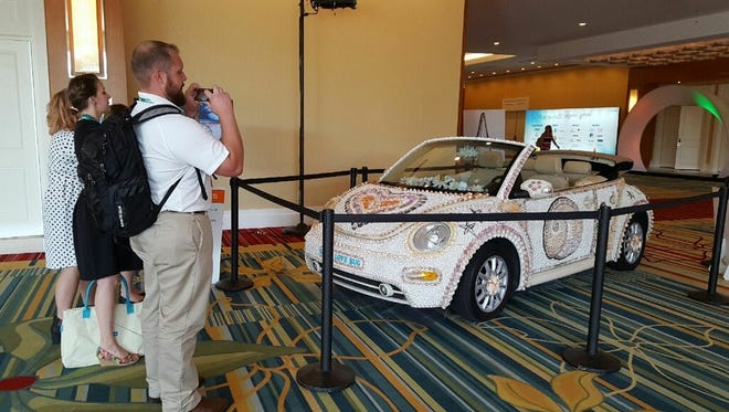 Lee County's Shell Love Bug makes an appearance at the 2016 Governor's Conference on Tourism, in Orlando.