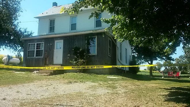 Police said two people were fatally shot at 706 Brown Road in Fawn Twp. on Sept. 13, 2016. (John Joyce photo)
