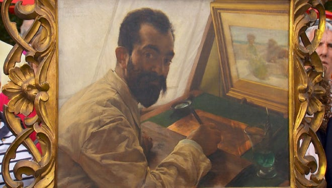 """The Victorian portrait of the engraver Leopold Lowenstam is expected to become one of the most expensive paintings ever valued on the """"Roadshow."""""""