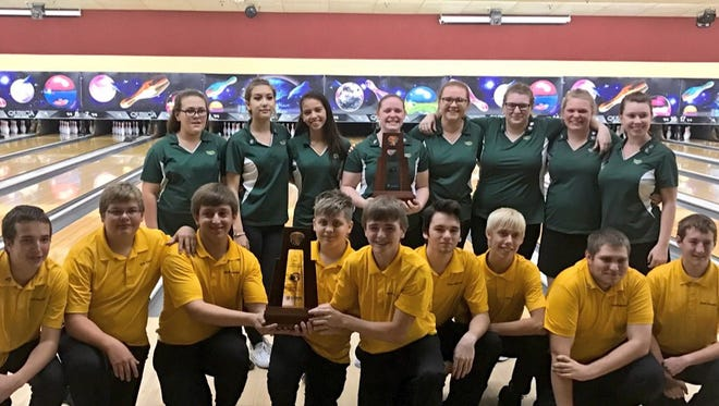 Island Coast boys and girls bowling team won the District 6 and LCAC titles on Tuesday.