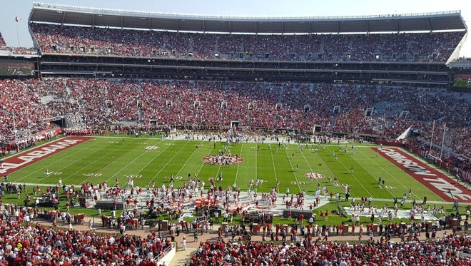 Alabama looks to remain unbeaten as the top-ranked Crimson Tide face Mississippi State.
