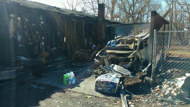 The Turner family home in Starr was burned after a pig apparently knocked over a heat lamp.