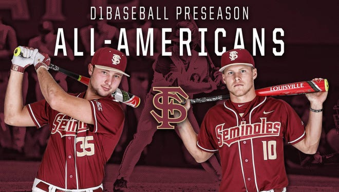 Smoky Mountain alum Cal Raleigh, left, is a sophomore catcher for Florida State.
