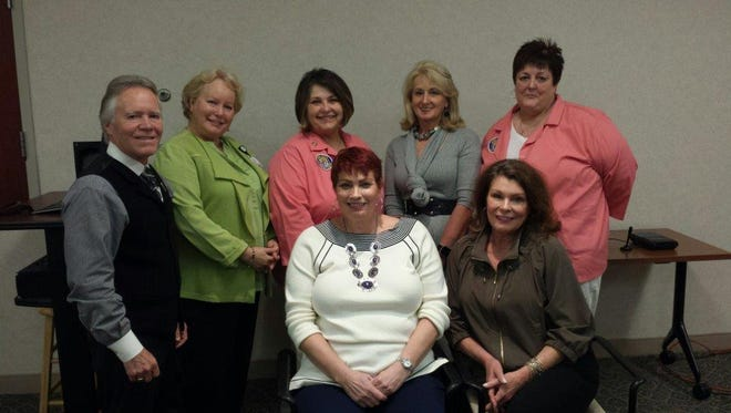 The 2017 AnMed Health Auxiliary governing board members are, from left in the front row, Maureen Dorin, president, and Haley Sitton, treasurer. Board members in the back row, from left, are Lee Luff, immediate past president, Wendy Mox, Wanda Cox, Marqaret Barnes, president-elect, and Joyce DeAngelis, secretary. Board members not picture are Billy Rhodes III and Wallace Cox.