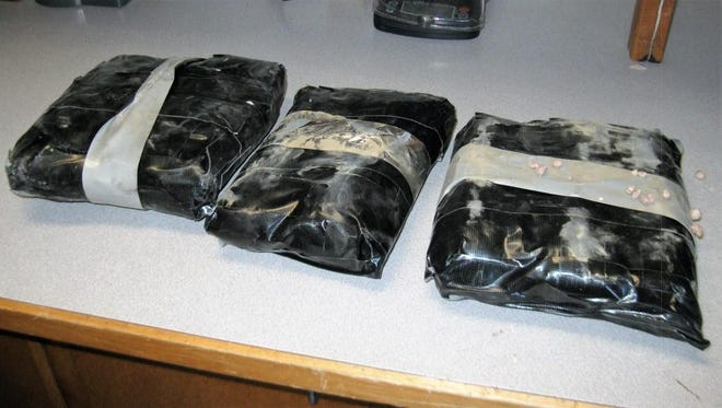 The methamphetamine Yavapai County sheriff's deputies seized — found in packages wrapped in tape and multiple layers of plastic — is believed to be worth about $250,000.