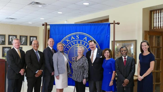 The Texas A&M University-Kingsville Foundation celebrated the creation of several new endowments during a news conference Thursday, June 8, 2017.