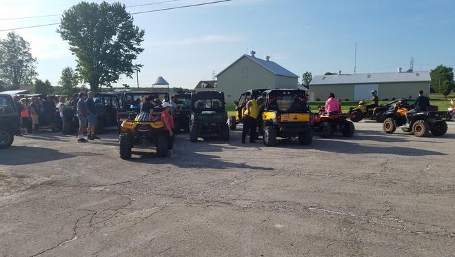 Casco Township and other residents showed up in large numbers, including many on their off-road vehicles, to a township board meeting on Tuesday, June 13, 2017, to show they were against the township's decision to opt out of St. Clair County's ORV law.