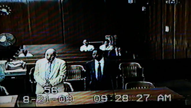 Dr. Gangaram Ragi appears before the court on April 8, 2008 in Bergen County Superior Court with his attorney Robert Galantucci.