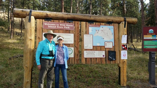 Randall and SherylKnowles checked their final state park off at Wild Horse Island State Park in Flathead Lake.