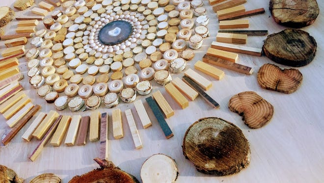 Alma Winberry is one of two artists on display in the Dahl Gallery in October. Her art uses found objects, both man-made and natural.