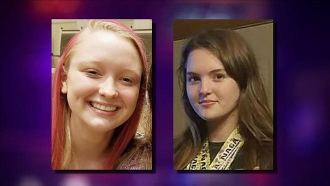 From left: MaKayla Richardson, 16, and Hannah Carnell, 15, were reported missing early Wednesday in Chester County.