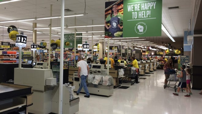 A view of the checkout area inside a Pick 'n Save store in the Fox Valley.