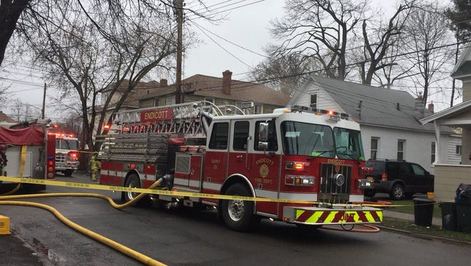 Crews responded to a two-alarm fire on Arthur Avenue in Endicott Wednesday.