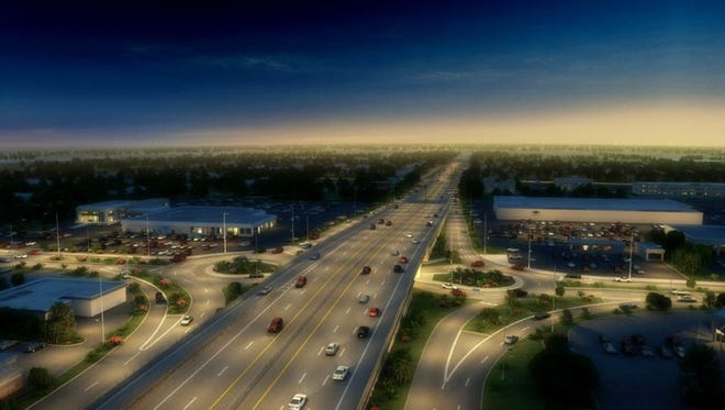 A roundabout is being built at 96th Street and Keystone Avenue