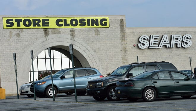 Sears at Chambersburg  Mall, Scotalnd, Pa., (photographed November 6, 2014) will close its doors in mid-January 2015, according to company officials.  Sears nationwide is reportedly closing sevreal  stores and cutting over 5000 jobs.  The Chambersburg Mall store will layoff approximately 62 employees. (AP Photo/Public Opinion, Markell DeLoatch) ORG XMIT: pacha102
