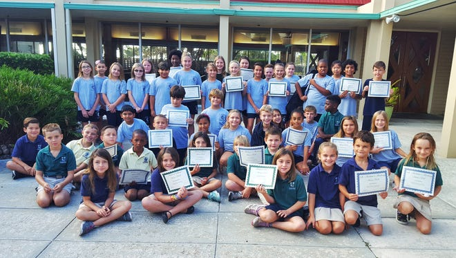 These students made Honor Roll (A-B) and Head of School Honor Roll (A) at St. Andrew's Episcopal Academy in Fort Pierce.