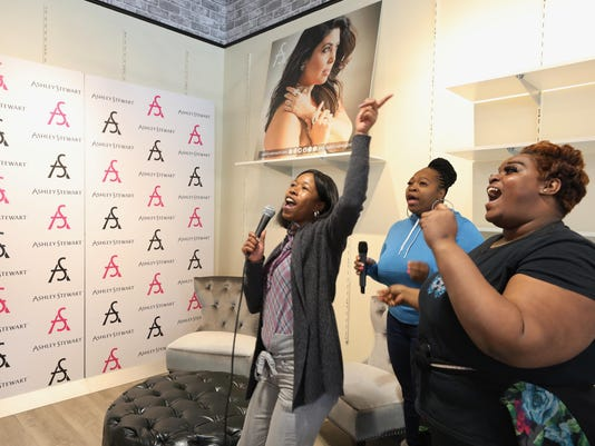 Plus sized womens's clothing retailer, Ashley Stewart prepares to open it's new store in Newark after filing for bankruptcy four years ago.