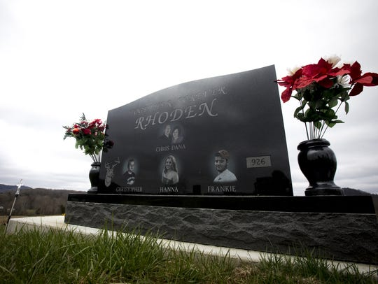 Mon., April 2, 2018: A granite headstone now marks