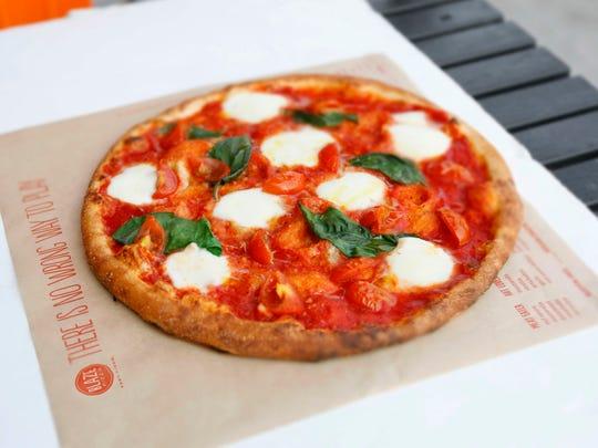 Blaze Pizza's Red Vine pizza is made of ovalini mozzarella,