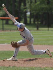 Wyatt Smith pitches against New London in a district