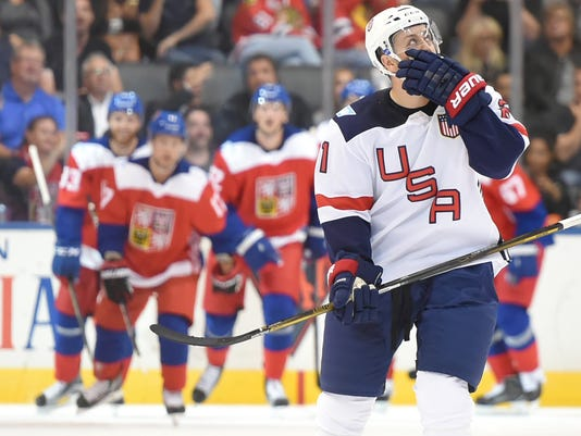 Hockey: World Cup of Hockey-Team Czech Republic vs Team USA